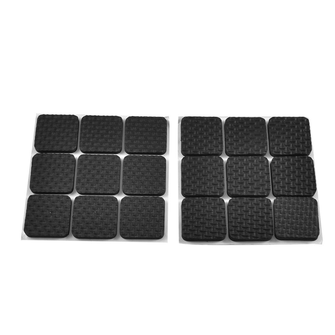 18 Pcs Square Shaped Black Adhesive Protection Pad for Chair Leg