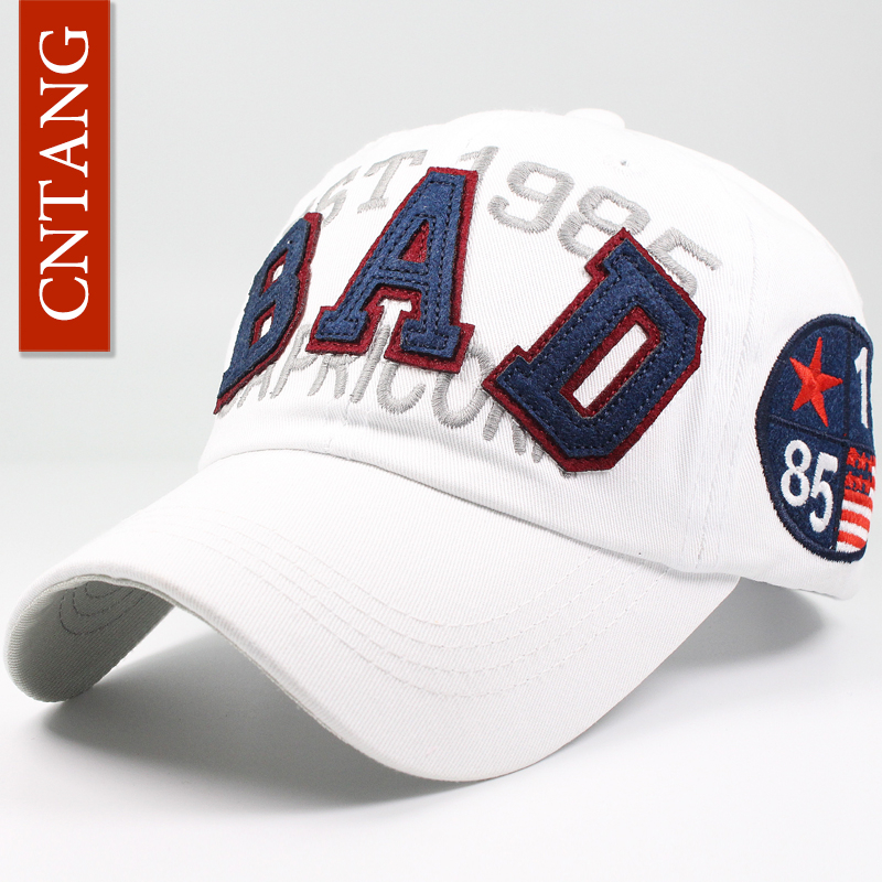 064736eca24 CNTANG Men Women 100% Cotton Baseball Cap Summer Snapback Brand Letter  Embroidery Hip Hop Hat Designer Gorras Fashion Sun Cap-in Baseball Caps  from Apparel ...