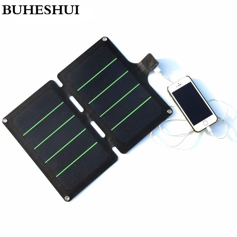 BUHESHUI Portable Solar Charger 11W Sunpower Fodable Solar Panel Charger Solar Rechargeable Folding Bag Super Slim Waterproof