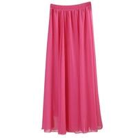 2014 Spring And Summer Fairy Full Dress Bust Skirt Pleated Expansion Skirt Bohemia Half Length Chiffon