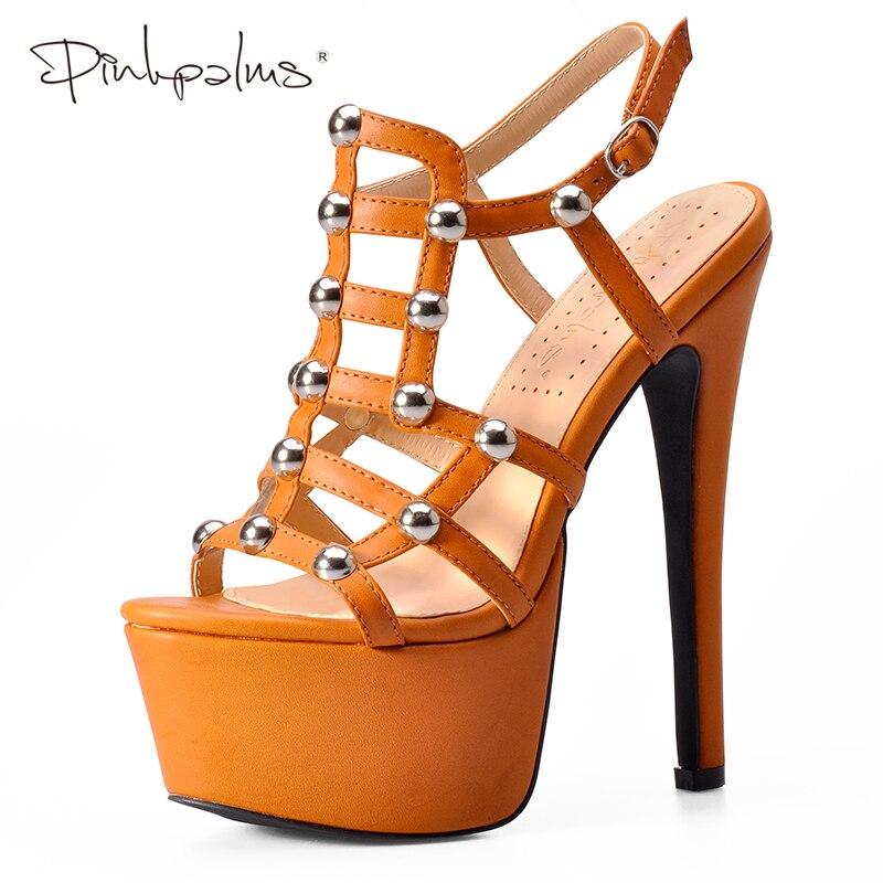 Różowy palmy buty damskie platformy sandały na wysokich obcasach z koraliki kliny buty dla kobiet Slingback lato sandały dla kobiet w Wysokie obcasy od Buty na  Grupa 1