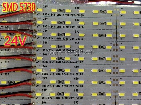 DC 24V LED Bar 5730 5630 Hard Strip Light 0.5m Aluminum 5/10/20pcs Free Shipping