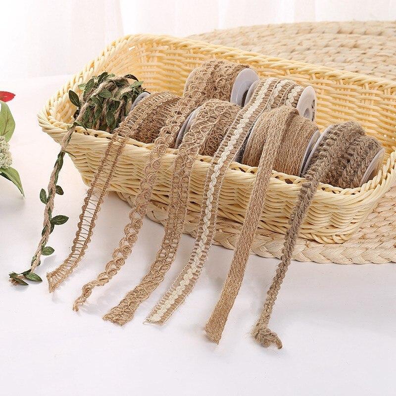 Rope-Decoration Christmas Webbing Craft Hemp-Rope Lace Leaf Handmade Curly DIY Multi-Style