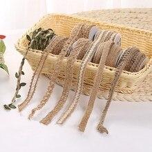 Лучший!  5 м новый ручной работы DIY свадьба Рождество зеленый лист конопли веревки украшения  Лучший!