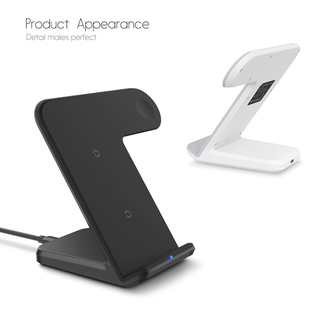 DCAE 2 in 1 Charging Dock Station Bracket Cradle Stand Holder Wireless Charger For iPhone XS MAX XR X 8 For Apple Watch Charger 1