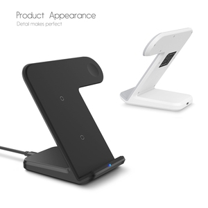 Image 2 - DCAE 2 in 1 Charging Dock Station Bracket Cradle Stand Holder Qi Wireless Charger For iPhone 11 XS Max XR X 8 Apple Watch 5 4 3