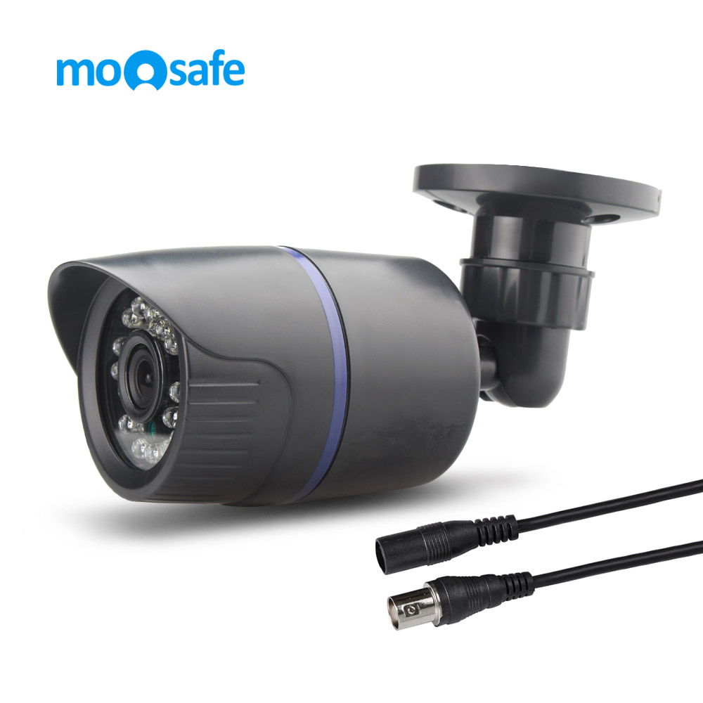 MOOSAFE HD 960H CMOS 800TVL Bullet Camera 1PCS Array IR LEDs Day/Night Indoor CCTV Camera 65ft Night Vision Home Security Camera 2015 newest cheapest freeshipping 6 array leds cctv camera cmos 700tvl plastic bullet hd mini monitoring security camera