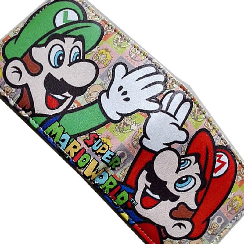 2018 Nintendo SUPER MARIO BROS. Bifold wallets Purse Multi 12cm Leather W350 2018 dc comics batman logo bifold wallets purse silver 12cm leather w341