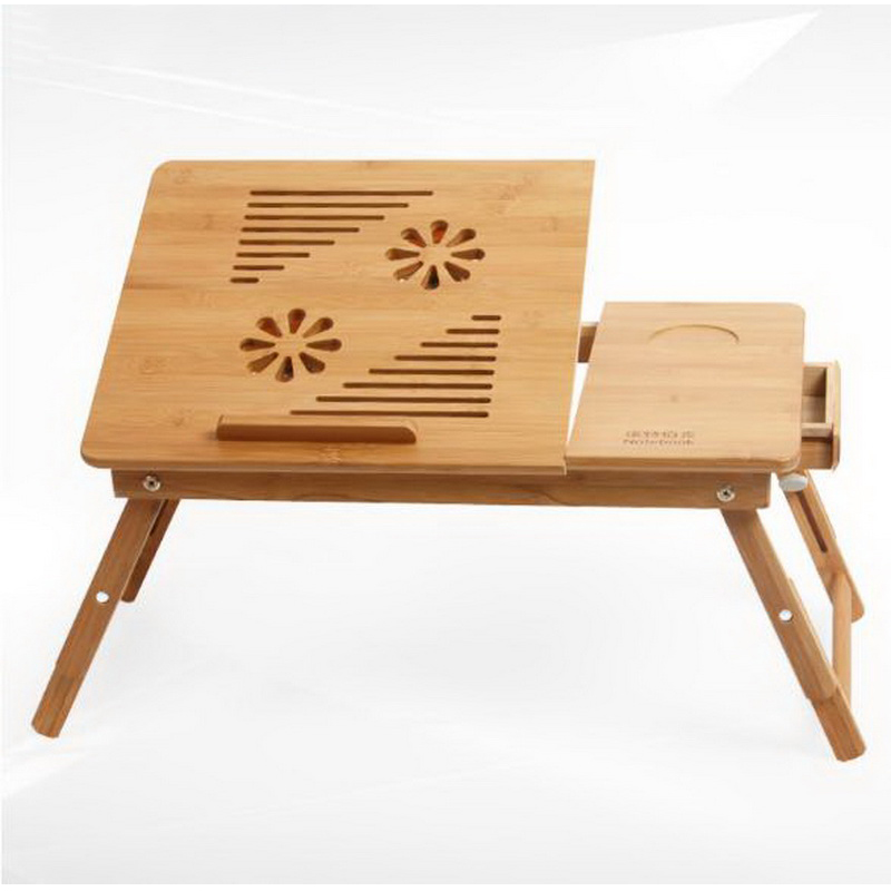 250625 Computer desk bed with notebook stand modern simple floating window Nan bamboo folding college student