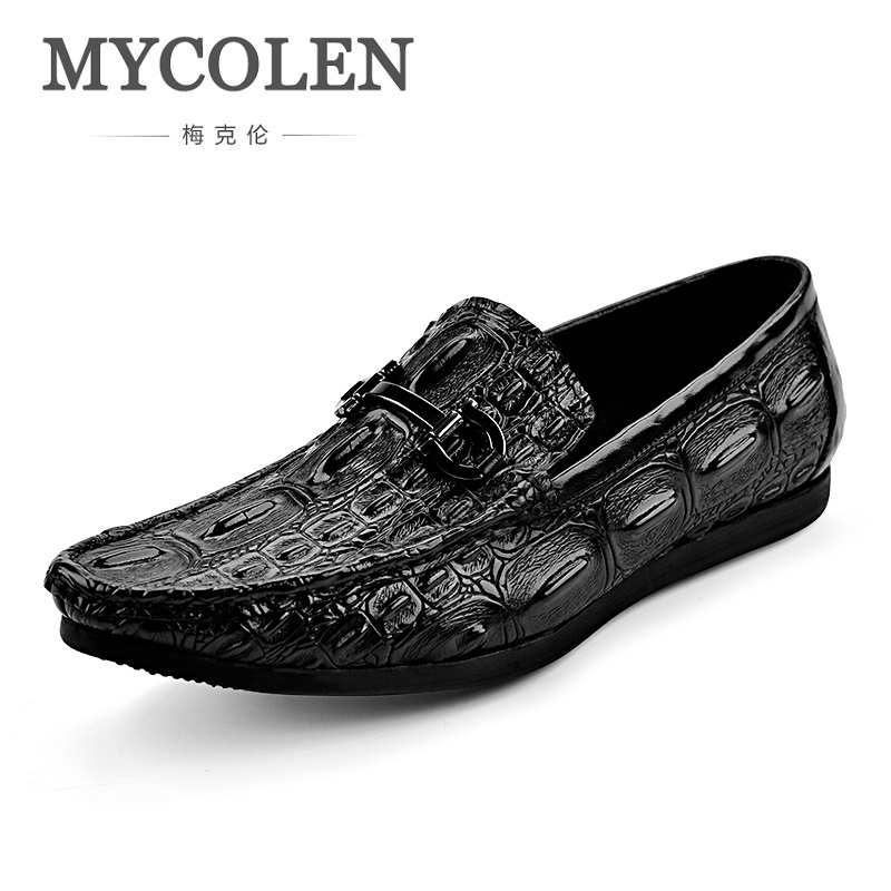 MYCOLEN 2018 Spring/Autumn Breathable Moccasins Men Gentry Doug Shoes Genuine Leather Soft Soft Bottom Casual Flats Shoes spring and autumn business casual leather moccasins shoes soft leather soft outsole men s light free shipping