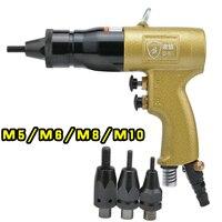 Пневматические гайковерт Тяговая гайка M5 M6 M8 M10 пневматическая воздушная гайка заклепки Съемник Y
