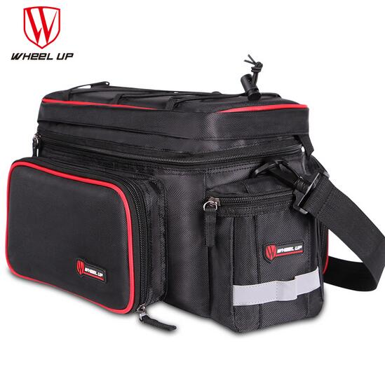 WHEEL UP Foldable Large Capacity Cycling Pack Reflective MTB Road Bike Camel Bag Rainproof  Bicycle Tail Bag Bicycle Accessories 2017 bicycle camera bag bike front tube bag bicycle accessories black road mountain large capacity cycle bike backpack bike bag