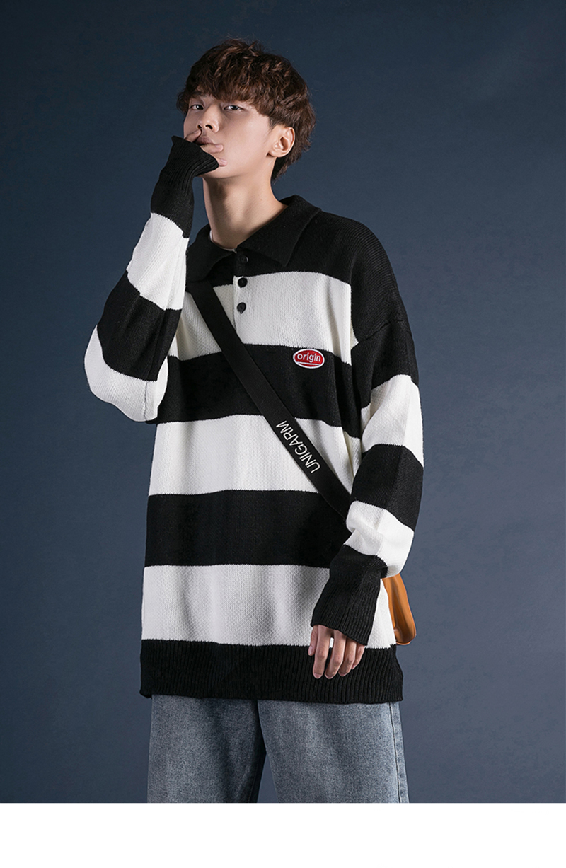 Korean Turtleneck Sweater Men Pullover Streetwear (21)