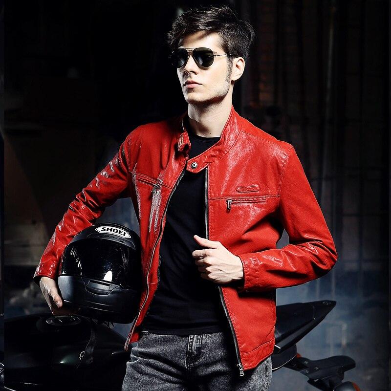 Aliexpress.com: Comprar Moda para hombre chaqueta de cuero