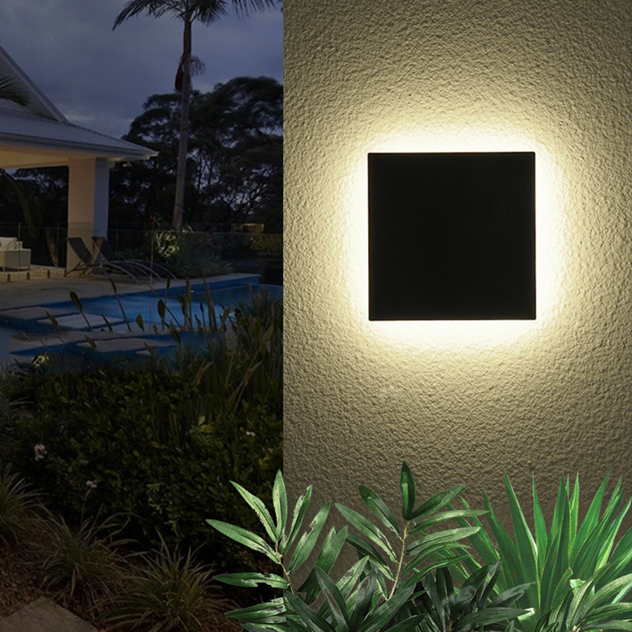 Thrisdar 12W Square Waterproof LED Wall Lamp Aluminum Outdoor Garden Porch Wall Light Corridor Villa Fence Balcony Wall LampsThrisdar 12W Square Waterproof LED Wall Lamp Aluminum Outdoor Garden Porch Wall Light Corridor Villa Fence Balcony Wall Lamps