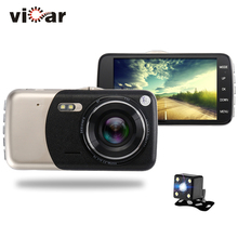 Wholesale prices 2017 New 4.0 inches Dual lens Car DVR Camera Full HD 1080P Auto Dash Cam Video Recorder With LED Night Vision Rear View Cameras