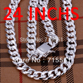 Hotsale New Items / Men Jewelry / - High Quality / 925 Sterling Silver 10MM cable wire Chain Necklace