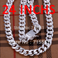Hotsale New Items Men Jewelry Free Shipping High Quality 925 Sterling Silver 10MM Cable Wire Chain