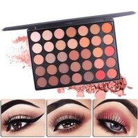Panienko Wzrosła Profesjonalne Glitter Shine Shimmer Eyeshadow Pigment Eye Shadow Kosmetyki 35 Kolory Ciepłe Pojedyncza Paleta Do Makijażu