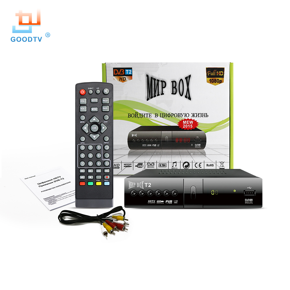Dvb T2 TV Receiver H.264 1080P HD MNP Smart TV Box Media ...