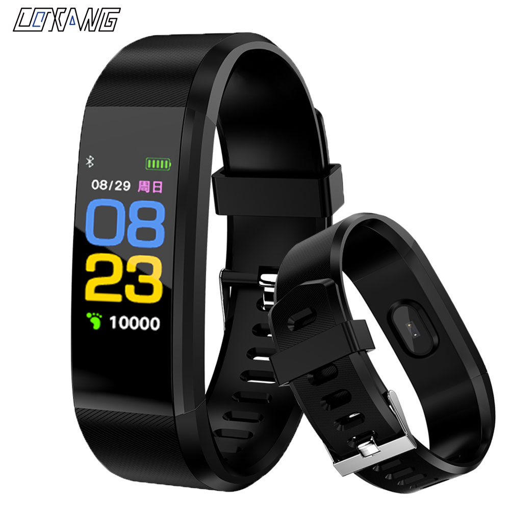 COXANG ID115 Plus Blutdruck Messung Smart Armband Herz Rate Monitor Fitness Tracker IOS Android Aktivität Smart Band