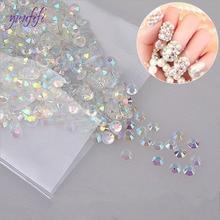 Shiny Acrylic Nail Art Glitter AB Rhinestone Crystal Flatback Beads DIY 3D Tips Decoration Phone Manicure