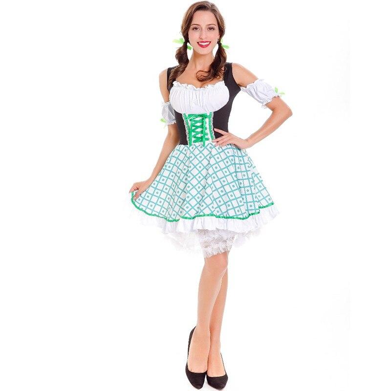 Beer Girl Wench Maiden Costume German Oktoberfest Dress