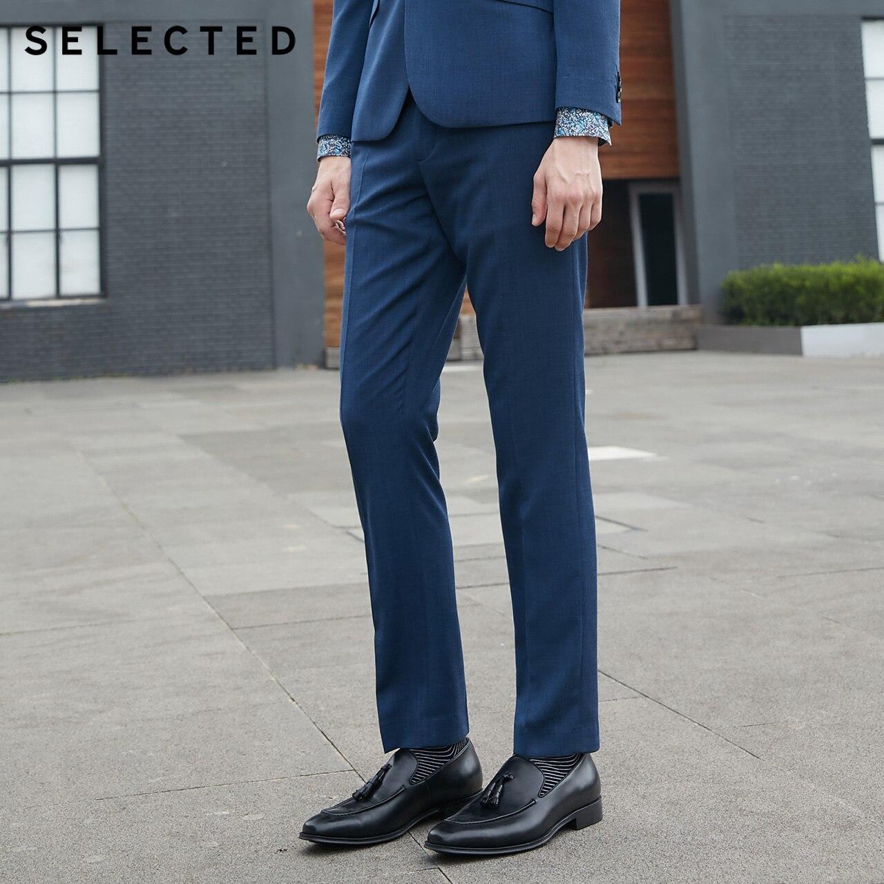 SELECTED new man pure color simple business pants suit trousersT41836A503-in Broek pak van Mannenkleding op AliExpress - 11.11_Dubbel 11Vrijgezellendag 1