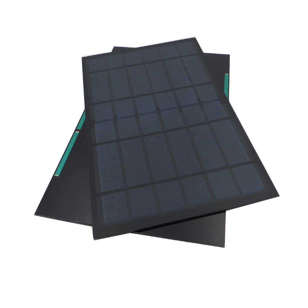6V 1670mA 10 vatios 10W Panel de polietileno estándar Solar epoxi monocristalino de silicona DIY batería de carga módulo Mini célula Solar de juguete