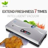 ShineYe 220 V/110 V Alimentaire Des Ménages Vide Scellant Machine D'emballage Film Emballeuse Sous Vide Récipient Alimentaire Sealer plus Comprennent 10 Pcs Sacs