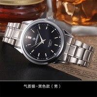 זוגות שעון עמיד למים מותג יוקרה LAOGESHI גברים נשים שעון קוורץ רצועת פלדה מזדמן עסקים שעונים zegarki meskie מתנה