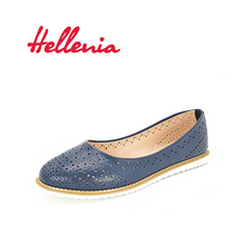 Hellenia Women Flat Shoes  Fashion Casual Moccasins Female Footwear Navy 2017 Autumn