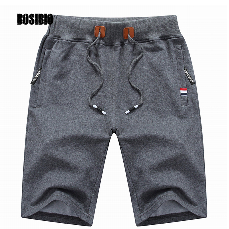 Mens Cotton Shorts 2017 Summer Hot Breathable Male Bermuda Solid Elastic Waist Casual Short Pants Fashion
