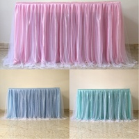 Rectangular Tablecloth Table Cloth for Wedding Party Christmas Decoration Tutu Yarn Table Skirt for Kids Birthday Party Supplies
