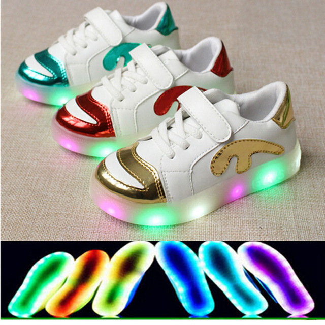 2016 Fashion LED Lighted USB recharge children shoes new brand high quality children sneakers hot sales boys girls kids shoes