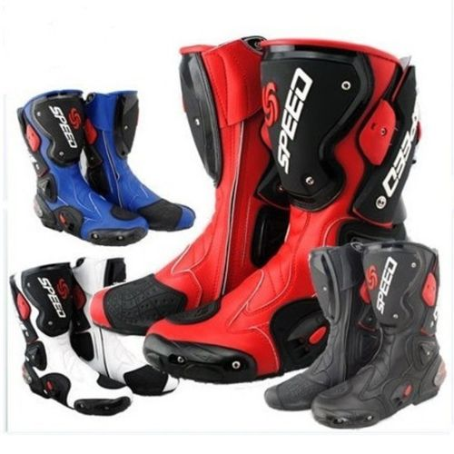 Hommes hors sport vélo moto cavalier imperméable haute Fiber cuir bottes chaussures