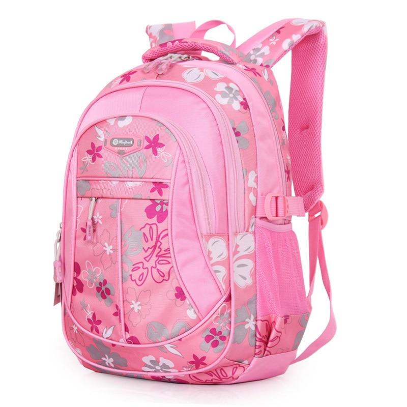 New Floral Printing Children School Bags Backpacks For Girls Boys ...
