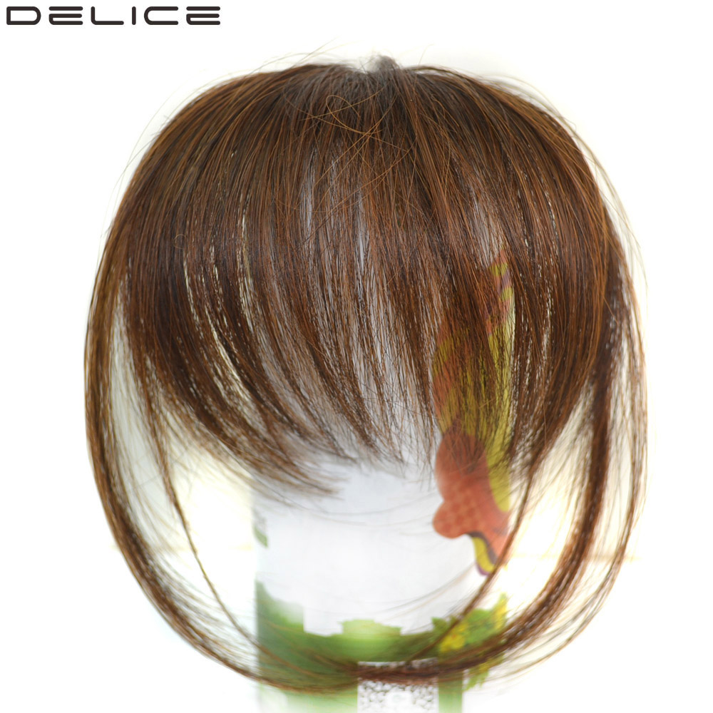 Haarteile Sego Gerade Reine Farbe Stumpfen Air Pony Zwei Seite Pony Vordere Haar Fransen Clip Inthin Unsichtbare Verlängerung Ordentlich Frauen Fransen