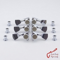 Genuine Original L3 R3 GOTOH SG301 04 MGT Guitar Locking Machine Heads Tuners Chrome