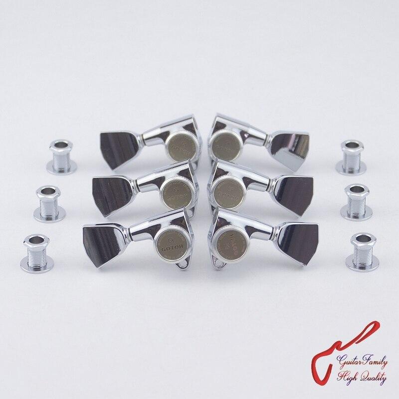 Véritable Original L3 + R3 GOTOH SG301-04-MGT têtes de Machine de verrouillage de guitare accordeurs (Chrome) fabriqués au japon