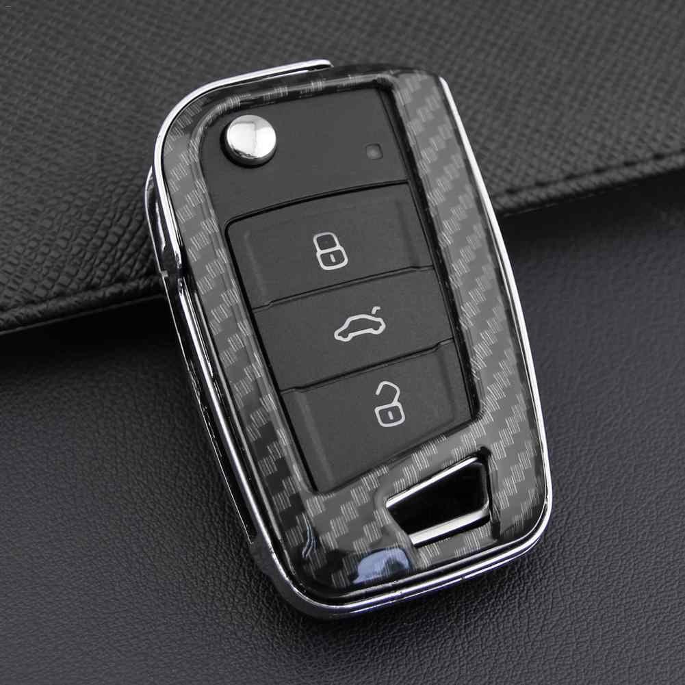 مفتاح حالة حقيبة حامل ABS قشرة صلبة غطاء أجزاء صالح لل 2018-2019 فولكس فاجن بولو MK6 غولف R MK7 تيغوان ل 2013-2019 سكودا اوكتافيا MK3