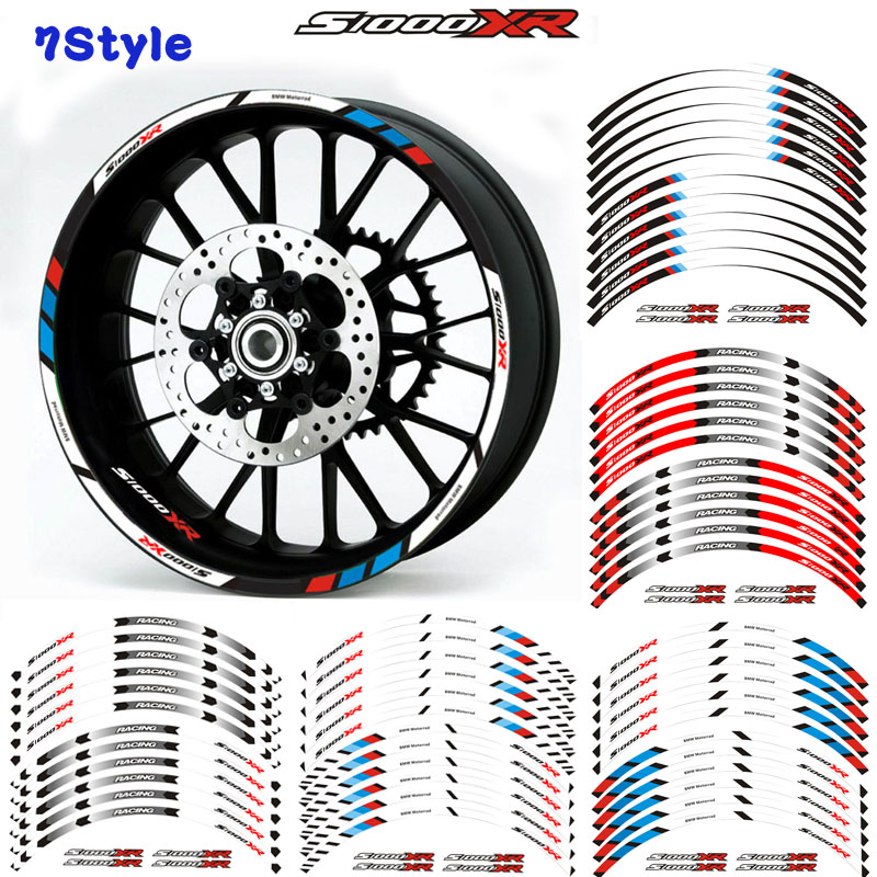 Motorcycle Wheel Decals Reflective Stickers Rim Stripes 7 Color For BMW S1000XR S1000 XR Motorbike S1000XR