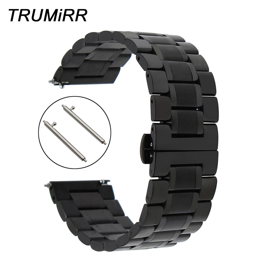 Stainless Steel Watch Band Quick Release Strap 20mm 22mm for Breitling Men Women Butterfly Buckle Belt Wrist Bracelet Black Grey 1000pcs 1 4w metal film resistors 750kohm 1