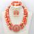 Lindo Branco Frisado Coral Africano Conjunto Colar de Ouro Pingente de Colar Brincos Conjunto de Jóias para Noivas Frete grátis CNR682