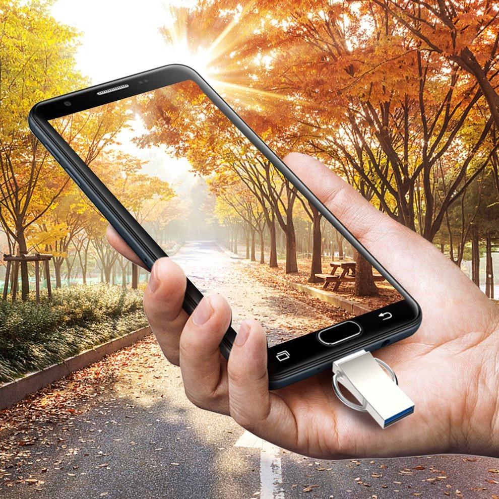 5pcs Phone Computer Dual Purpose U-Disk USB 3.0 Flash Drive Portable Metal Memory Stick Flash Disk For Android 16GB suitable for flash dv portable u shaped stability equipment