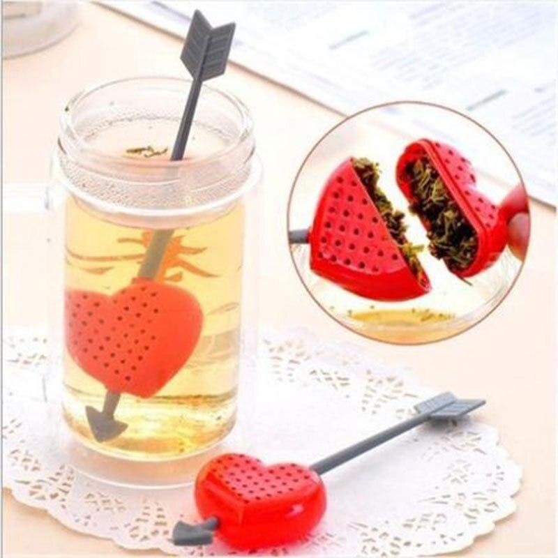 Creative Fashion Sweet Heart Shape Valentine Best Gift Tea Filter Infuser Teapot
