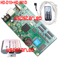 HD-D10+HD-901D Temperature+Humidity+Brightness Sensor Asynchronous full color LED screen control card 4*HUB75 HD D10