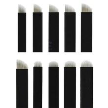 Nano noir 0.16mm 500 pièces Flex 12U 14U 16U 18U 21U aiguilles Microblading maquillage Permanent sourcil tatouage aiguilles lame