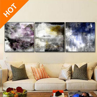 수제 3 개 현대 추상 그림 야생 폭풍 캔버스 뜨거운 판매 벽 아트 장식 집 Decoratate