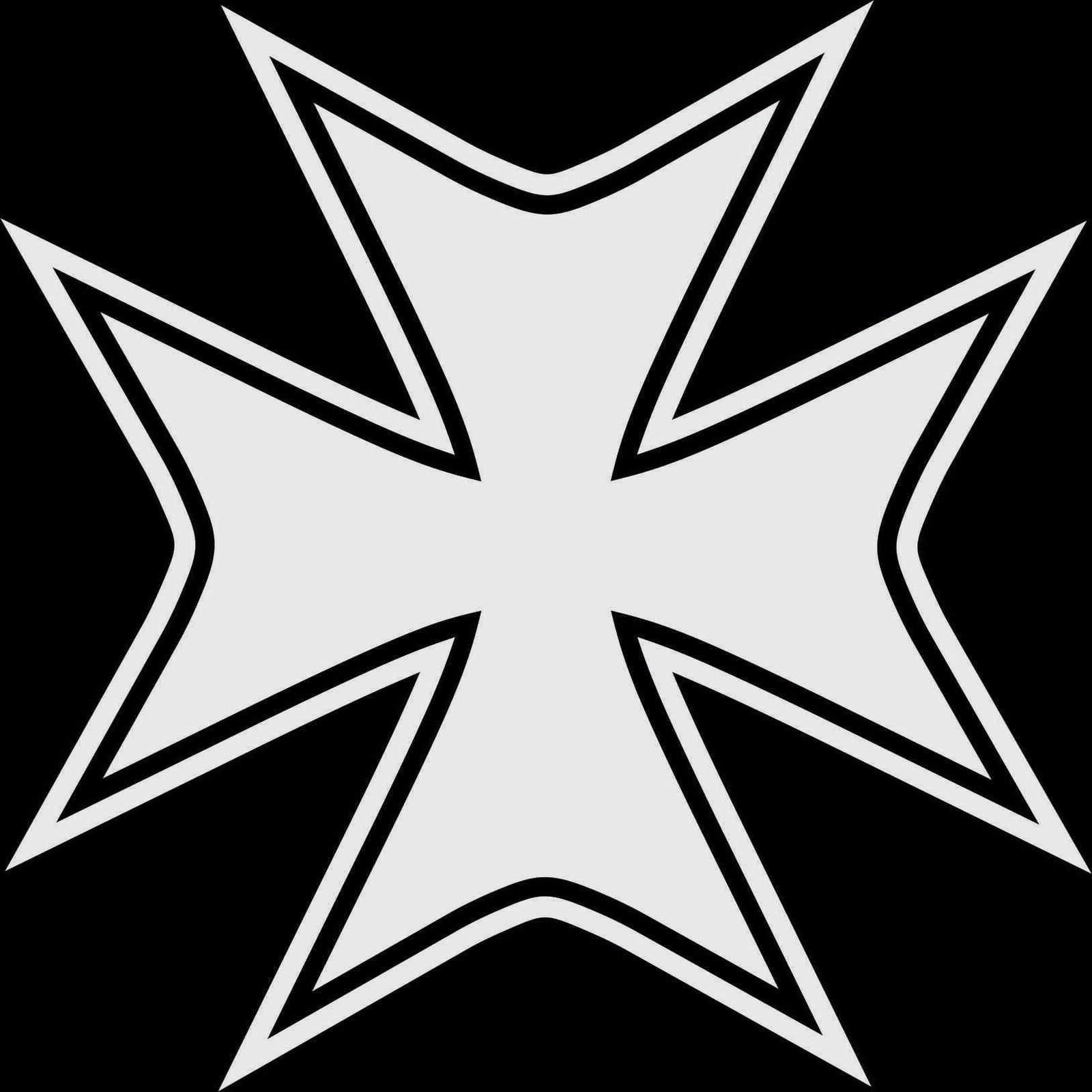المالطية الصليب رمز سيارة ملصق لاصق لامع ورائع أزياء شخصية الإبداع الكلاسيكية جذابة